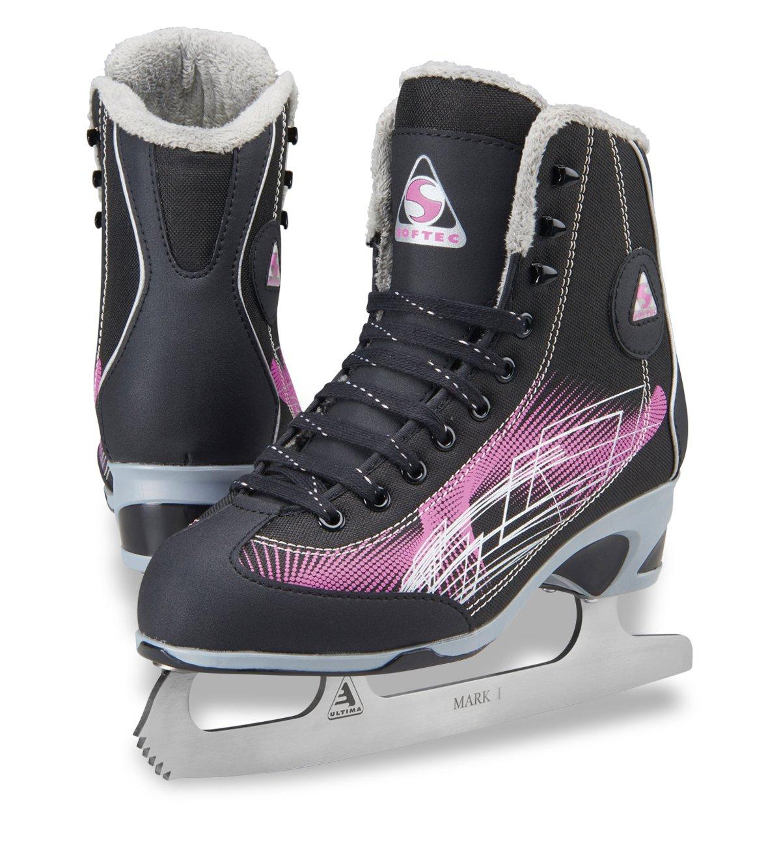 Jackson Ultima Kids Figure Ice Skates Softec RAVE RV2001, Color: Purple, Size:12