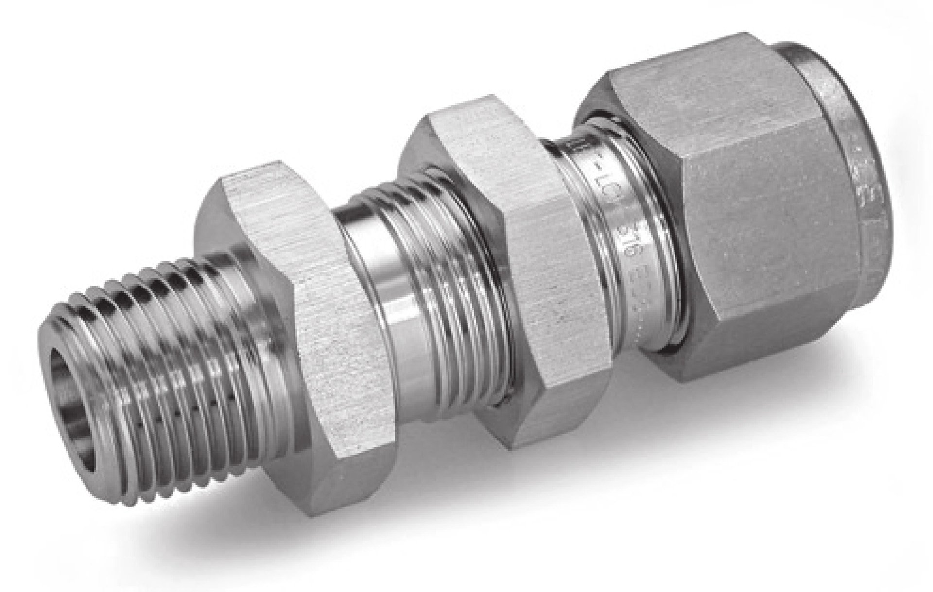 Ham-Let 3002406 Stainless Steel 316 Let-Lok Compression Fitting, Bulkhead, 1/4'' Tube OD x NPT Male