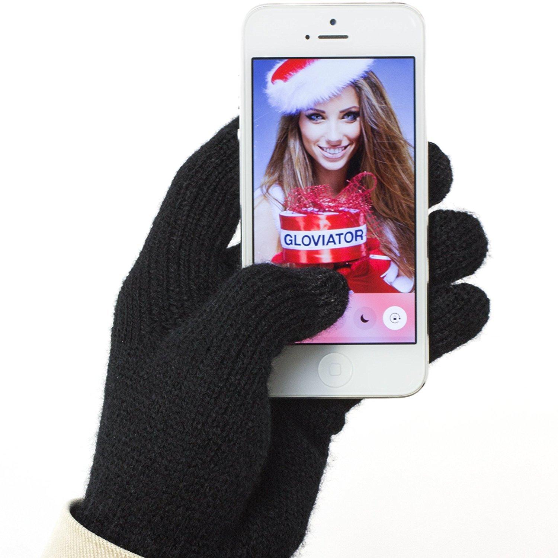Gloviator® Touch Gloves GUANTI TOUCH universali per touchscreen | Adatto a tutti gli Smartphone e Tablet | Unisex - Taglia unica | Caldi e resistenti Gloviator-1000