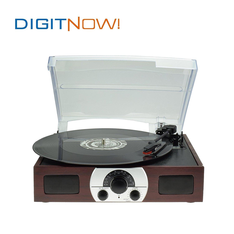 DIGITNOW! tocadiscos estéreo plato giradiscos plato vinilo de velocidades con altavoces incorporados