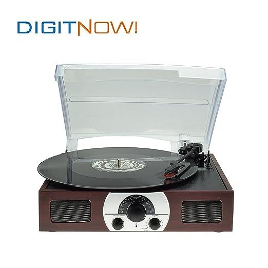 19 opinioni per Digitnow! Portable Belt-Drive 3-Velocità Giradischi stereo con altoparlanti