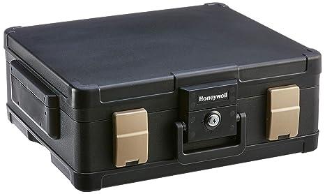 Honeywell 1104 - Caja fuerte para guardar documentos, impermeable, ignífuga, 11.1L