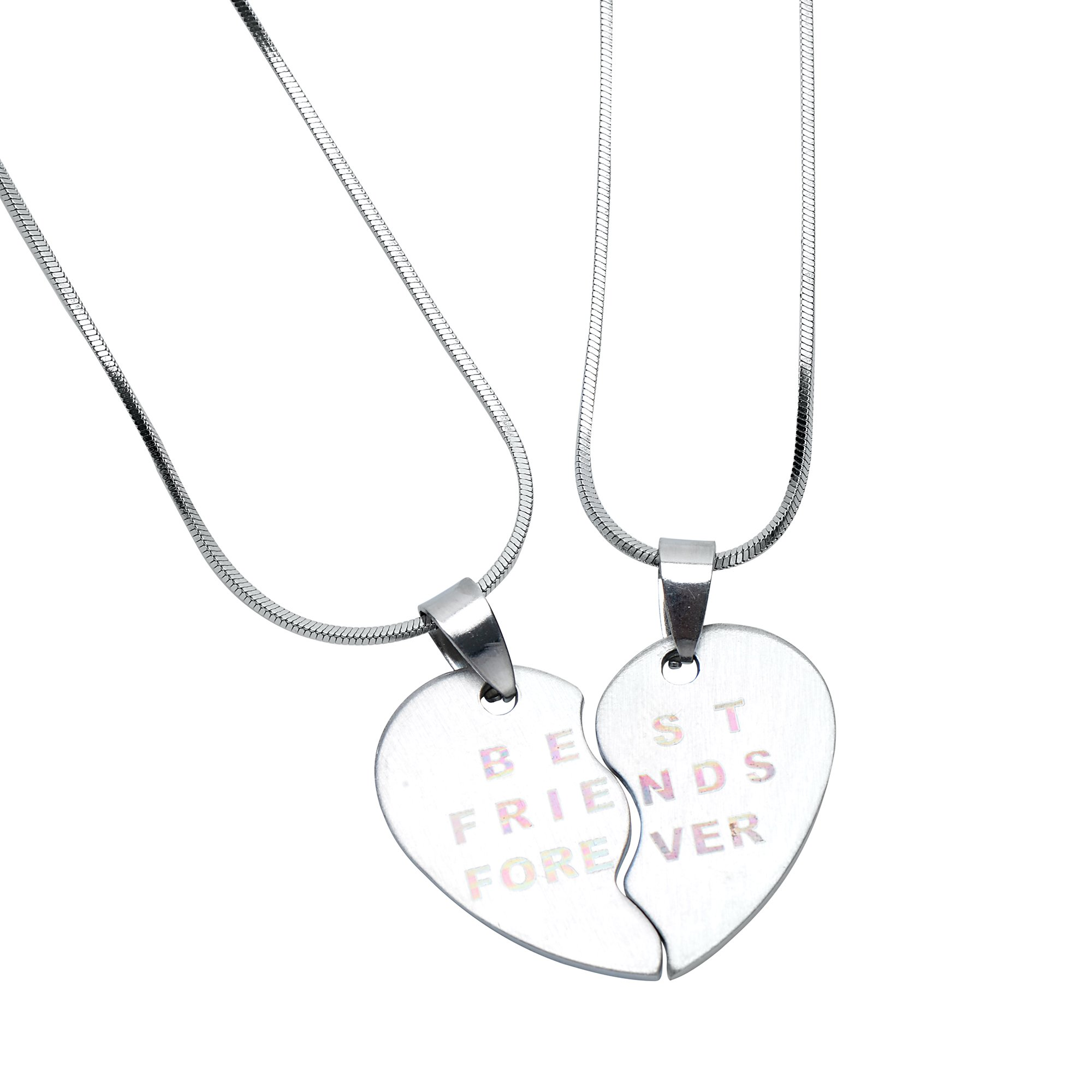 Stainless Steel - BFF Necklace for 2 - Friendship Gifts for Women