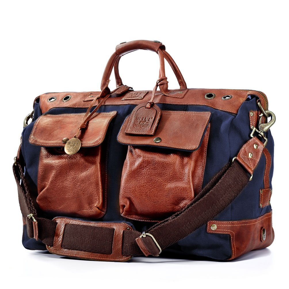 Will Leather Goods Traveler Duffle Bag in Navy