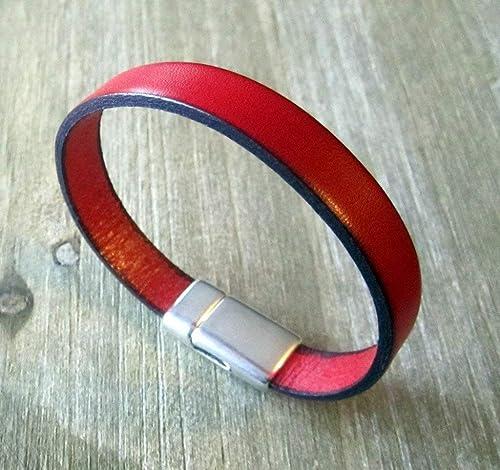 12pcs timbre 925 Plaqué Argent Fermoir Bracelet Cuir Homme Bracelet en cuir gratuit