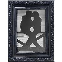 Porta Retrato Clássico Kapos Preto, 10 x 15 cm, tamanho externo 18 x 23 cm