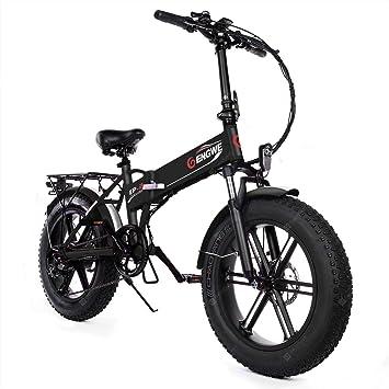 ENGWE EP-2 Versión Mejorada 500W Bicicleta eléctrica de neumático Gordo Plegable con batería de Iones de Litio de 48V 12.5Ah: Amazon.es: Deportes y aire libre