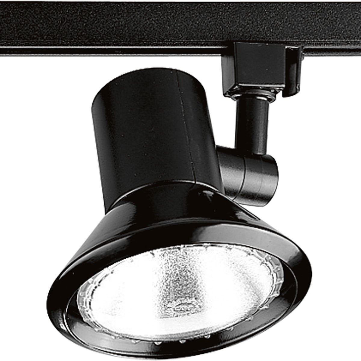 Progress Lighting P9220-31 Shallow Profile Non-Metallic Molded Fitter with Aluminum Reflector, Black