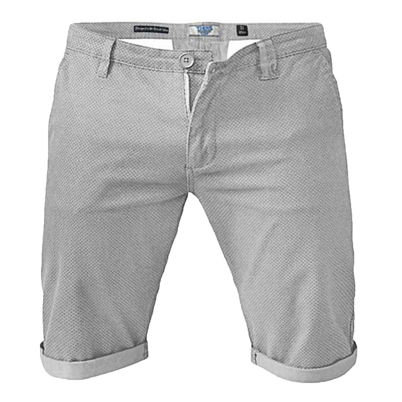 D555 Duke Grande Tamaño King Size Estilo Informal Algodón Elástico Chinos Pantalones cortos con UPS de vuelta
