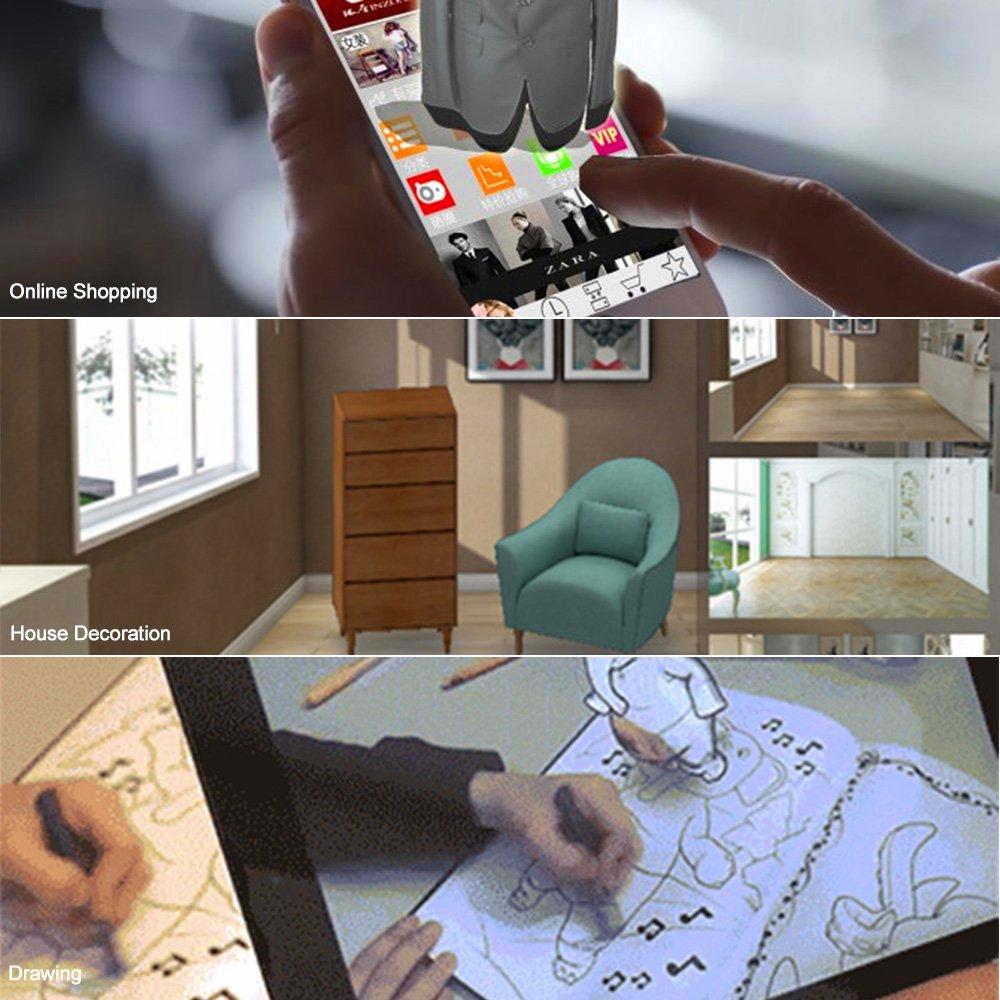 Docooler 3d ar realità más papel DIY Auriculares Ar para I film y juegos 3d a hasta 6 pulgadas Easy Setup Machine progettato para arkit/Arcore/holokit: ...