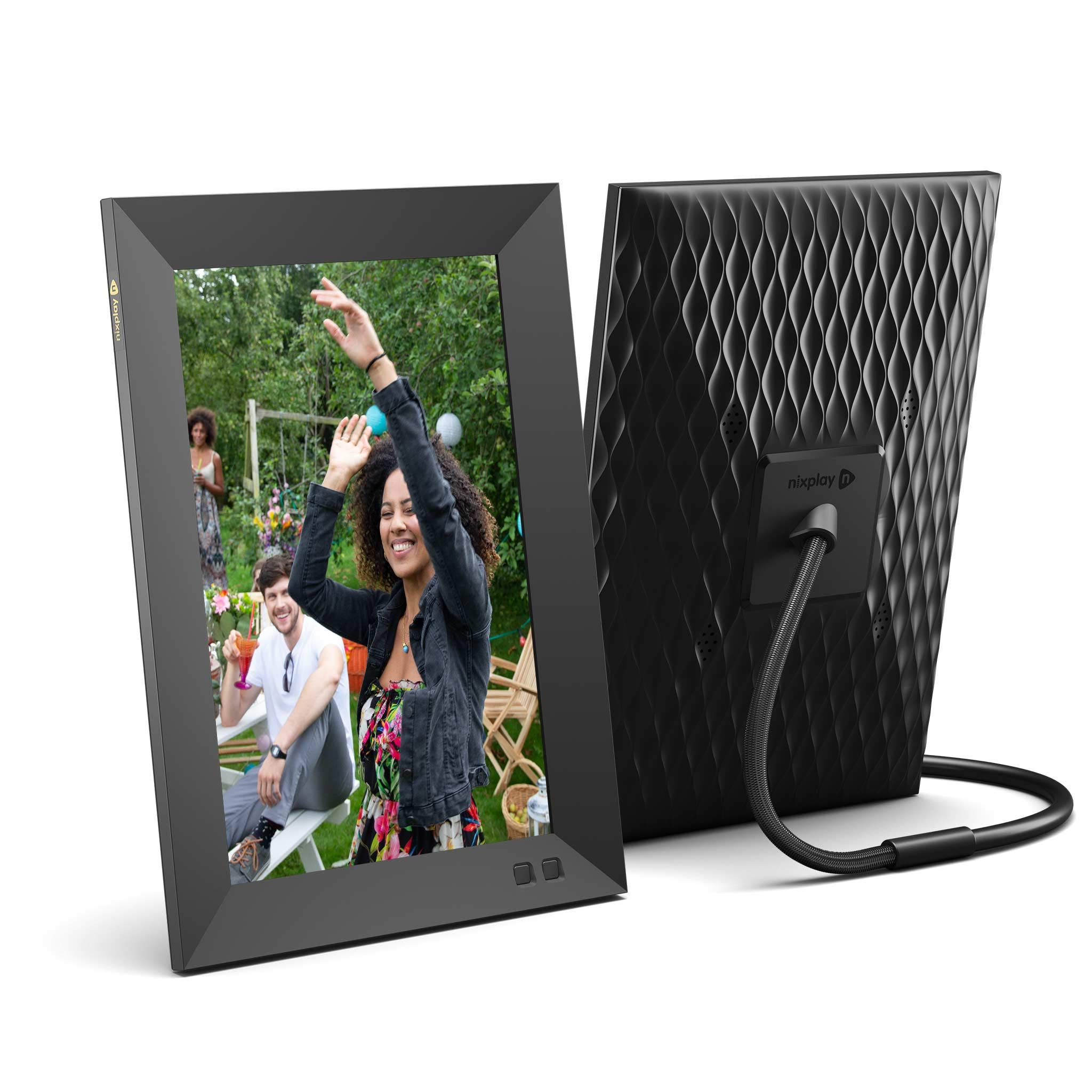 Nixplay 10.1 Inch Smart Photo Frame W10F Black - Digital WiFi Picture Frame with 1280x800 HD Display, Motion Sensor and 10GB Online Storage, Display and Share Photos via Nixplay Mobile App by nixplay