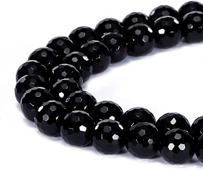 BLACK ONYX 3 MM ROUND CUT FACETED 10 PIECE SET ALL NATURAL