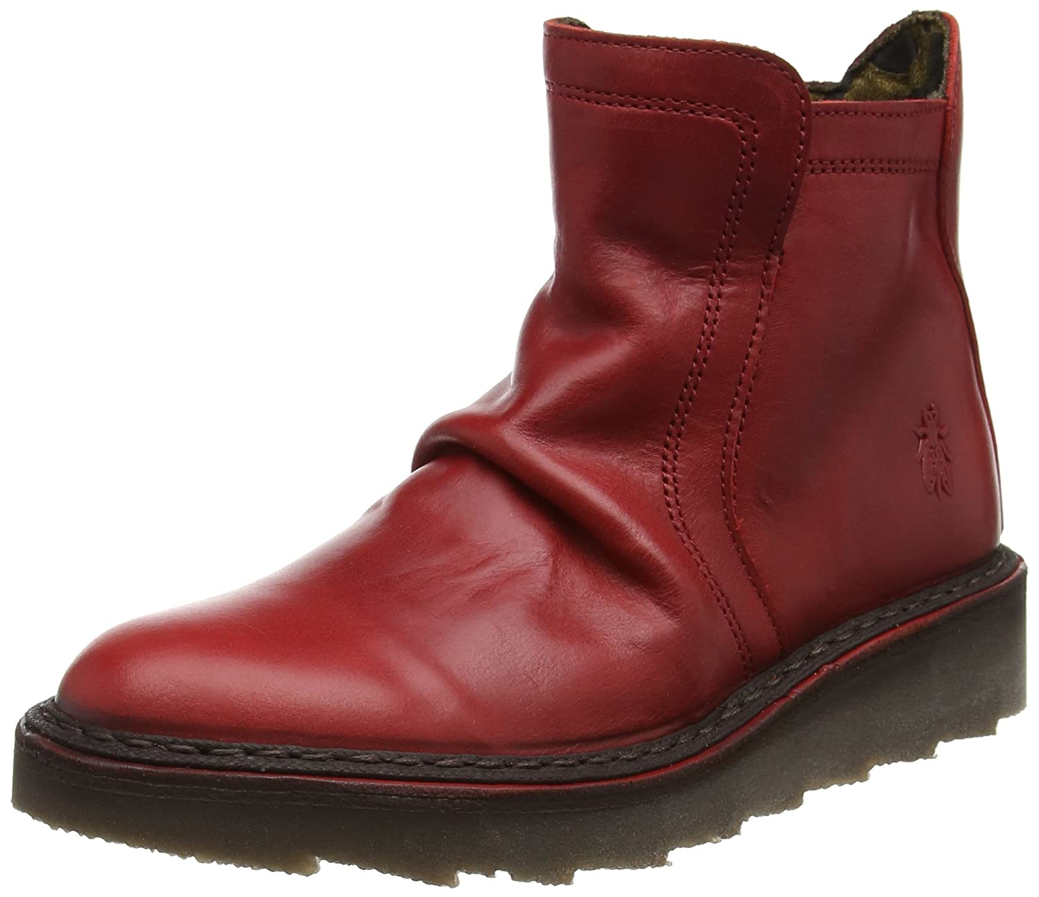 Fly London Adit951fly, Botas Desert para Mujer37 EU|Rojo (Red)