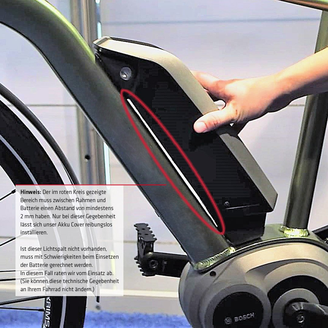 Thermo Akkuschutz für Bosch /& Shimano Rahmenakku //Akku-Cover Schwarz NC175 #NC-17 4215 E-Bike Akku-Schutzhülle von NC-17 connect