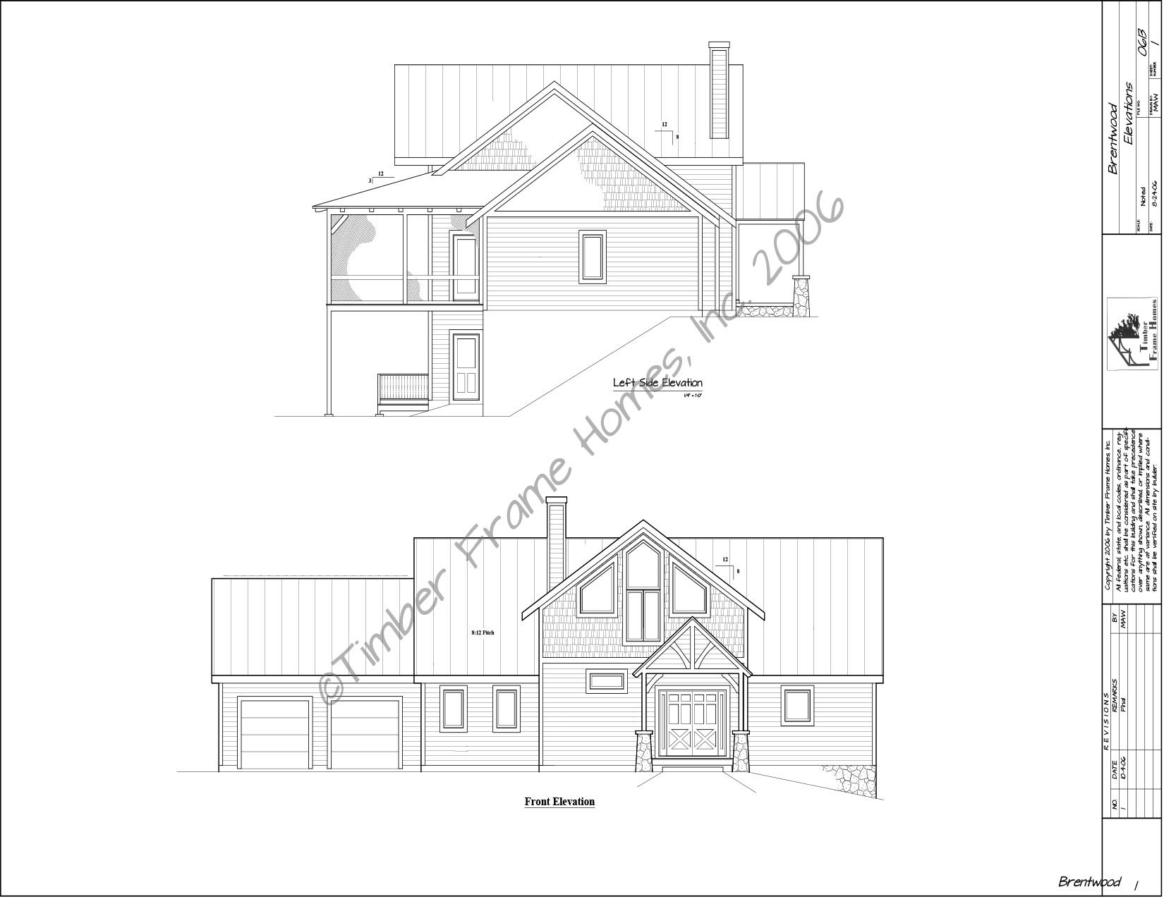 Home Plans - The Brentwood Timber Frame (Design Proof) by TimberStead
