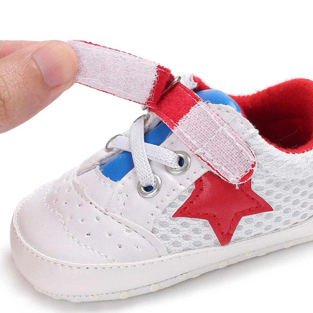 Morrivoe Infant Baby Girls Soft Sole Breathable Sneaker Shoes Anti-Slip First Walkers Toddler Casual Shoes