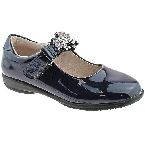 11 UK 29 EU DB01 Blossom Black Patent Interchangeable School Shoes Lelli Kelly LK8342