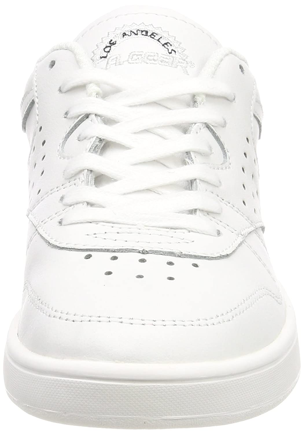 Wht-Soft Verginia Leather 03 White Gear Womens Lily Trainers L.A 5 UK
