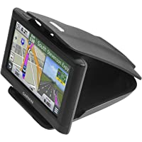 GPS Dash Mount [Matte Black Dock] for Garmin Nuvi Drive Dezl Drivesmart, Tomtom, Magellan Roadmate, Rand McNally, Navman, Cell Phone - Car Adhesive Non-Slip Dashboard Holder for Satnav