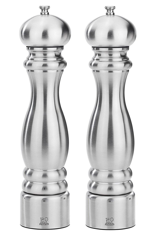 Peugeot Paris Chef u'Select Stainless Steel 30cm - 12'' Salt & Pepper Mill set by Peugeot.