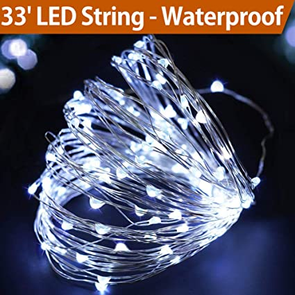 bright zeal 33 cool white fairy lights battery operated led string lights battery powered