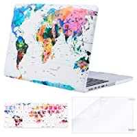 Mosiso Plastic Hard Case with Keyboard Cover with Screen Protector Only for MacBook Pro 13 Inch with Retina Display No CD-ROM (A1502/A1425, Version 2015/2014/2013/end 2012), World Map