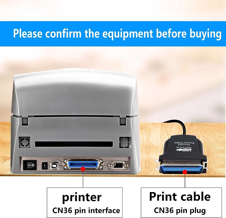 SinLoon USB to Parallel IEEE 1284 CN36 Printer Adapter Cable 2.8FT Paralllel Printer Cable,for Printer