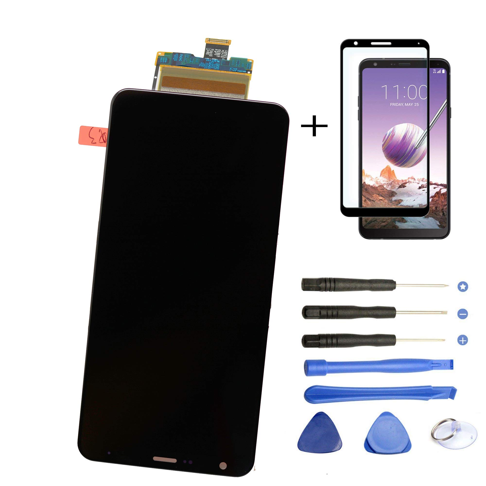 Eaglewireless Replacement Full LCD Screen Assembly with Touch Screen Digitizer and LCD Pre-Installed for LG Stylo 4 / Q Stylus Q710 Q710MS Q710AL Q710US 6.2''+Free Tempered Glass Protector