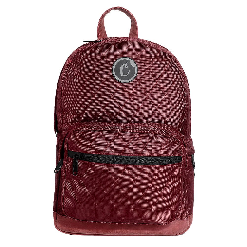 Cookies SF Berner Men's V2 1680 Quilted Nylon Smell Proof Backpack Bag W/ Pouch Red