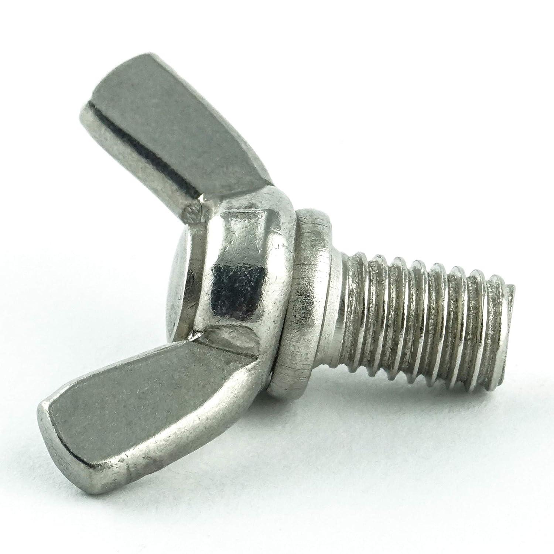 30 St/ück rostfrei Form /ähnl - Fl/ügel Schrauben amerik Gewindeschrauben Edelstahl A2 V2A DIN 316 Eisenwaren2000 Fl/ügelschrauben M8 x 20 mm