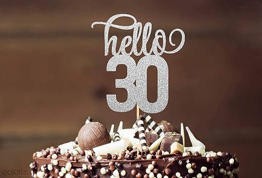 Hello 30 30 cumpleaños decoración para tarta Hello 30 30 ...