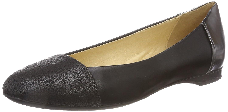 Womens D Wistrey A Closed Toe Ballet Flats, Black (Black C9999), 7.5 UK Geox