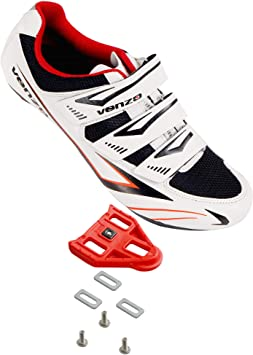 Venzo - Zapatillas de Ciclismo para Hombre o Mujer, 3 Correas de ...