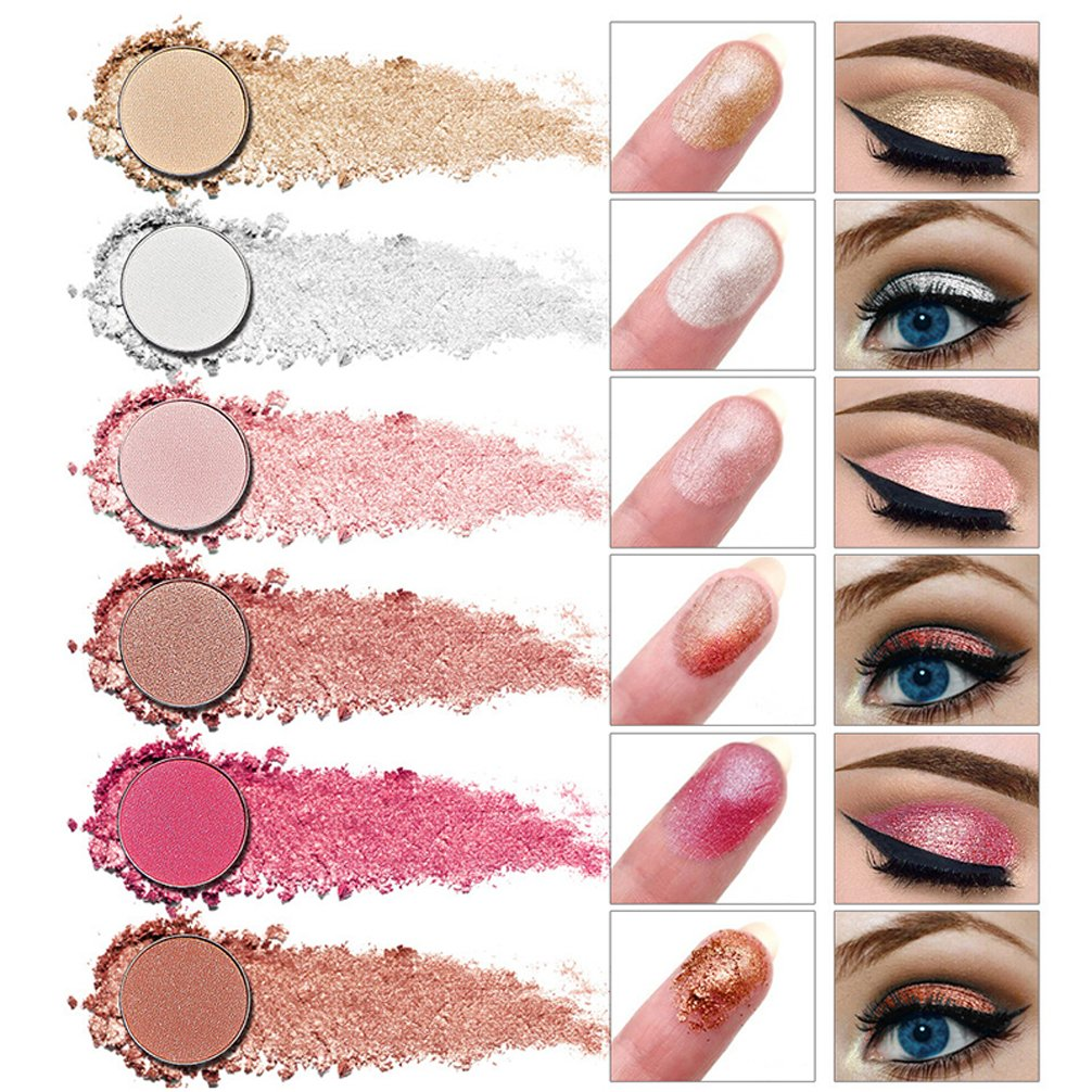 Pevor Eyeshadow Palette Makeup Cosmetics Glitter Eyeshadow Eye Makeup Smokey Eye Makeup Black Yellow Pink Eyeshadow Palette Eyeshadow Primer With Makeup Brush 12 Colors 1# 2# 3# 3 Styles Can Choose