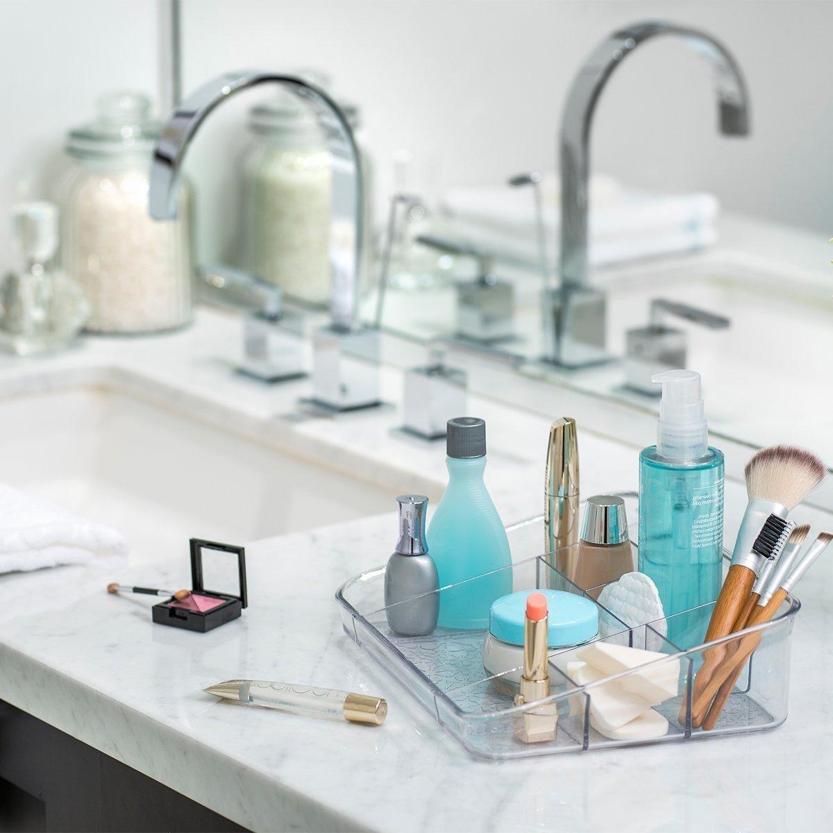 Amazon.com: Better Living Set of 4 Vanity Trays for Bathroom Storage ...