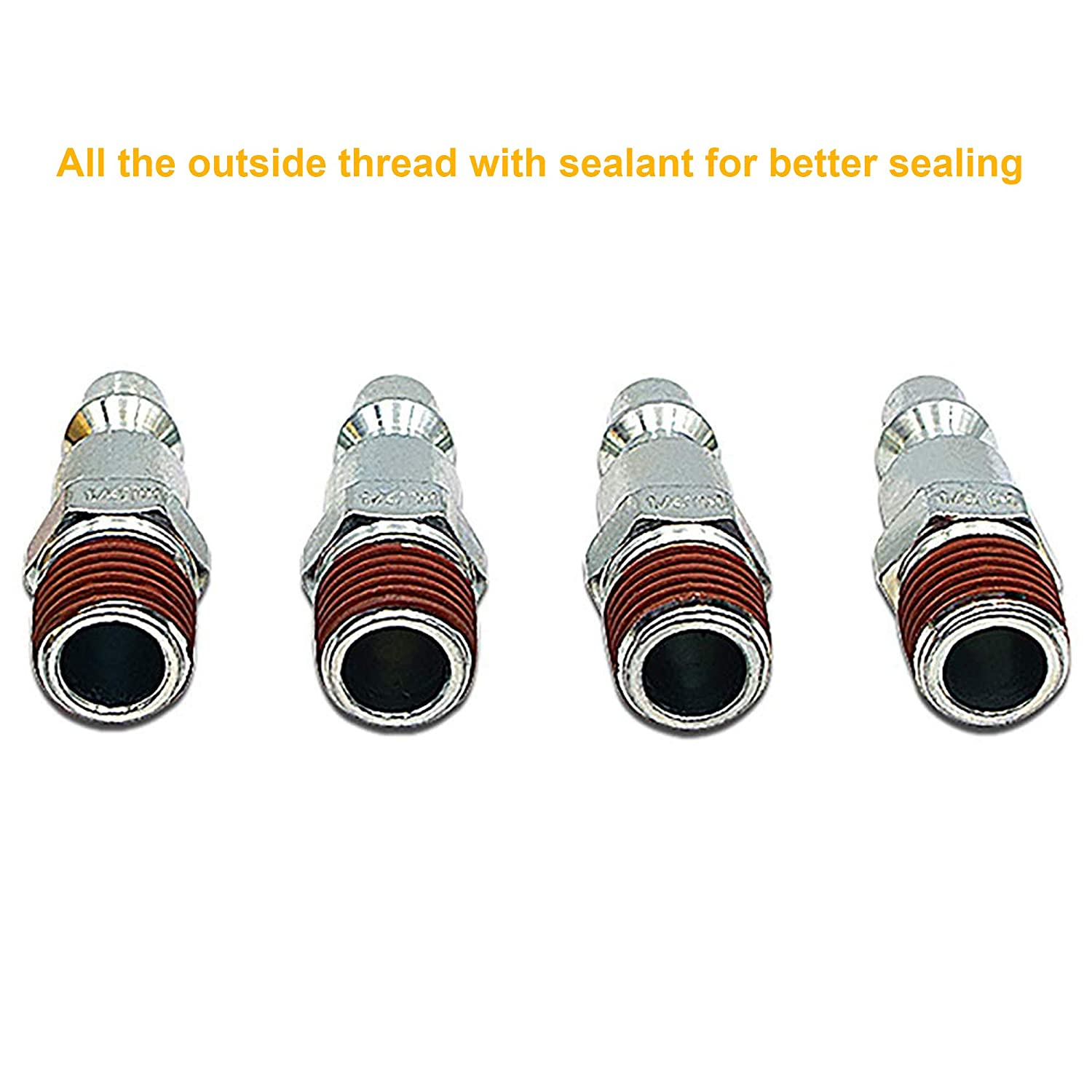 5 Pcs Air Hose Quick Connect,1//4 NPT Air Fittings Industrial Type I//M,1//4 Basic Body Size,Air Compressor Accessories Kit,1//4 NPT Air Hose Fittings 1//4 NPT Air Fittings Industrial Type I//M 1//4 Basic Body Size Automan Pro FIXSMITH Air Coupler Plug Kit