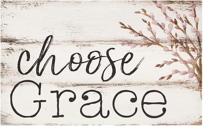 P. Graham Dunn Choose Grace Whitewash 17 x 10.5 Wood Pallet Wall Plaque Sign