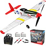 Remote Control Aircraft Plane, RC Plane with 3 Modes That Easy to Control, One-Key U-Turn Easy Control for Adults &Kids, LEAM