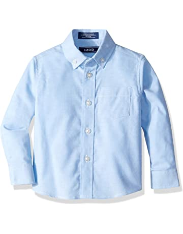 25b4ae1f23 IZOD Boys  Long Sleeve Solid Button-Down Oxford Shirt
