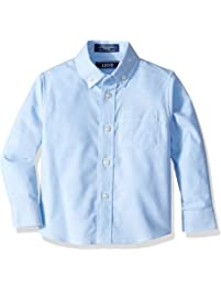 95bff8489 IZOD Boys' Long Sleeve Solid Button-Down Oxford Shirt