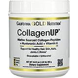 California Gold Nutrition, Collagen UP 5000, Marine-Sourced Collagen Peptides + Hyaluronic Acid + Vitamin C, 16.36 oz , Milk-