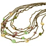 Sweet Romance Gemstone Garden Multi Strand Necklace