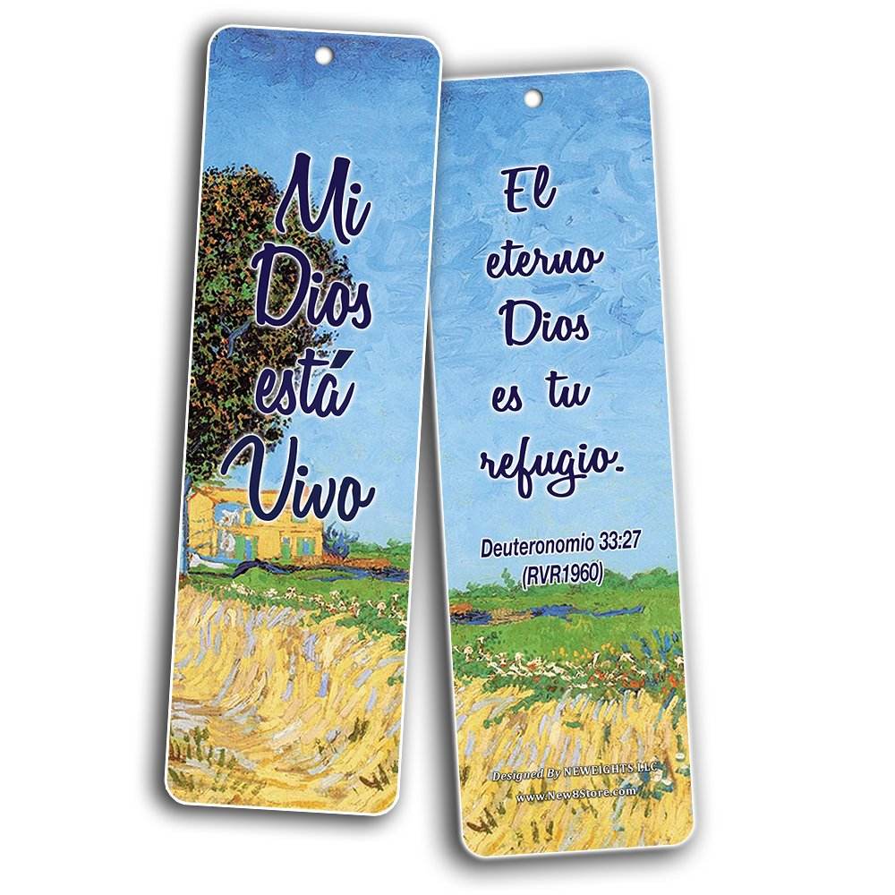 Spanish Favorite Bible Verses Bookmarks (60 Pack) - Bulk Collection & Gift with Inspirational, Motivational, Encouragement Messages by NewEights (Image #3)