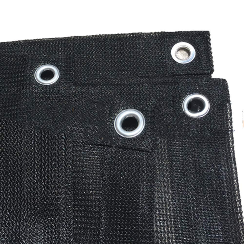Black 1.45x2m HAIPENG Encryption Shade Cloth Shading Mesh Net Sunscreen Windproof Dustproof Heat Insulation Flower Balcony Outdoor (color   Black, Size   1.45x2m)
