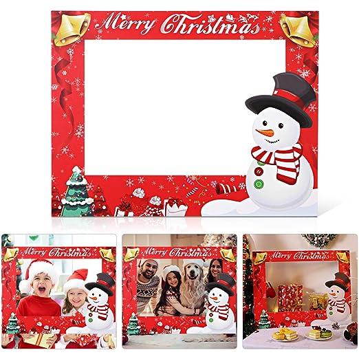 Amosfun marco de fotos de navidad accesorios de fotos de ...