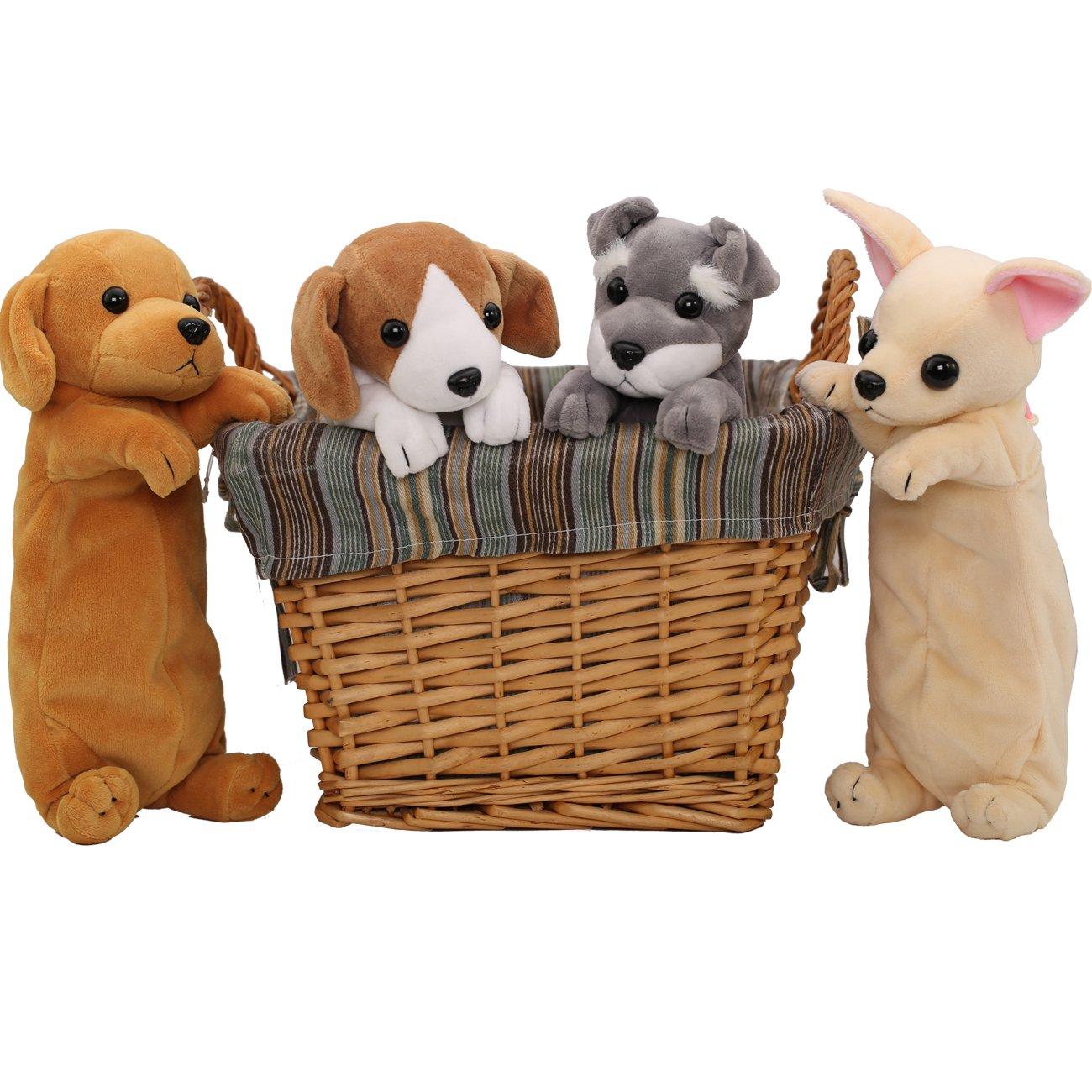 Estuche para lápices con diseño peluche de perro en 3D White-Yellow 9.8 * 3.15 * 2.76inches(25 * 8 * 7cm): Amazon.es: Oficina y papelería