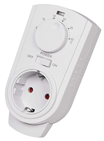 McPower TCU-330 - Termostato para enchufe (5-30 °C, máx. 3500 W ...