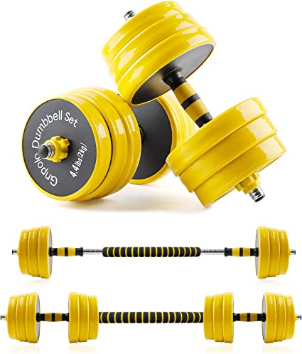 can be connected to barbell Dumbbells