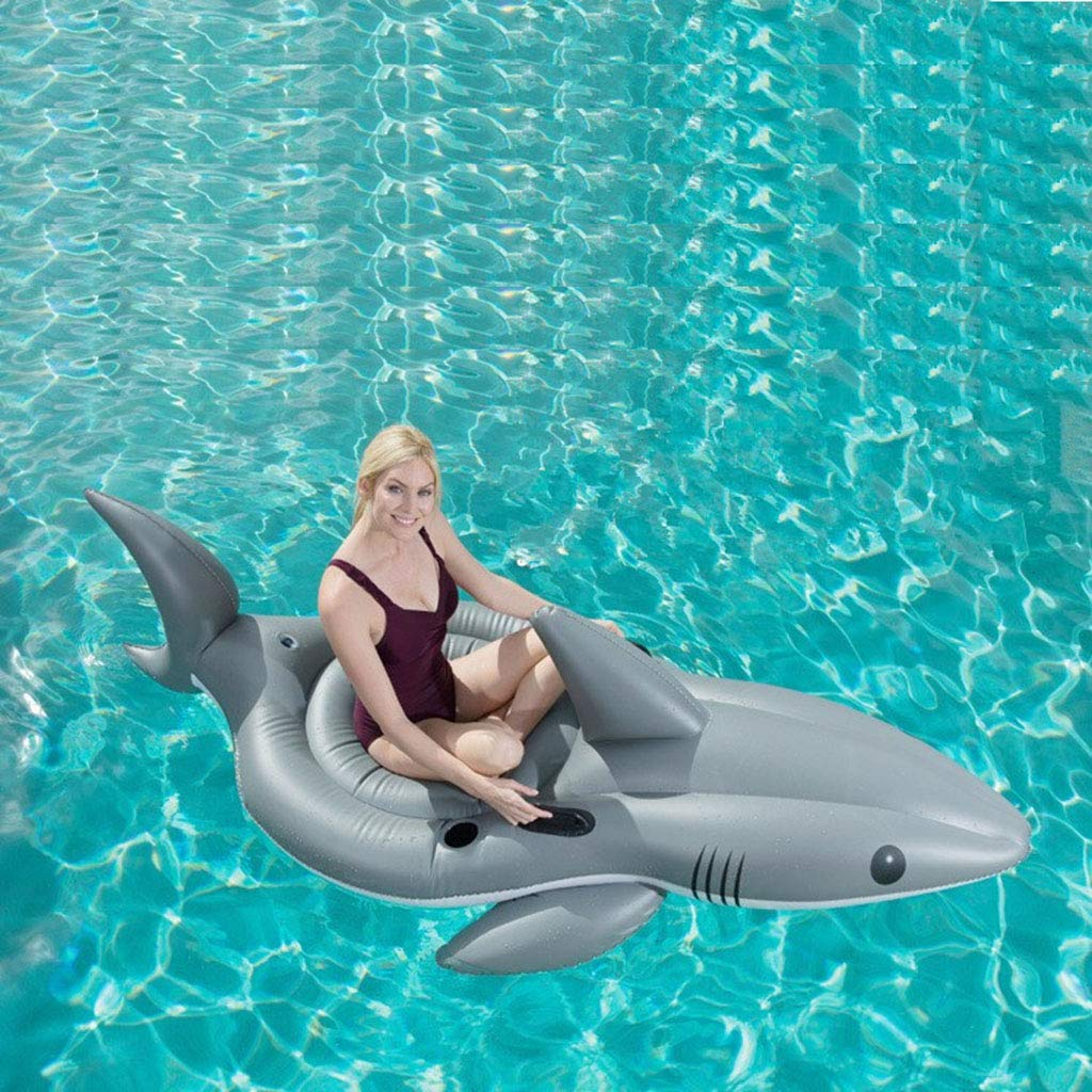 LCYCN Flotador Juguete Hinchable para Piscina,Modelo tiburón ...