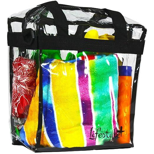 2f8e55e2936 Amazon.com: Lifestyle Large Clear Tote Bag Stadium Clear Bag For ...
